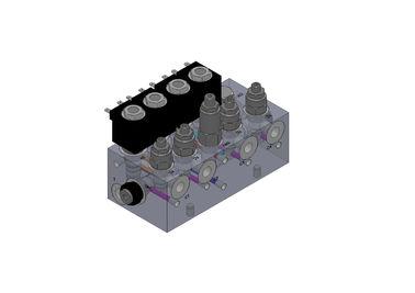 Blocchetti molteplici delle valvole idrauliche di alluminio per il sistema del carrello elevatore a forcale